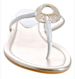 Fendi Patent Leather Flip Flops