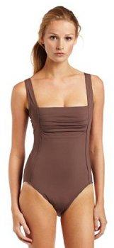 Calvin Klein Pleat Front Swimsuit